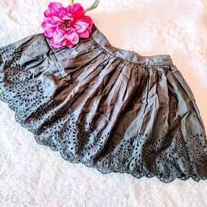 Gap kids gray lace skirt 8 girl's clothes